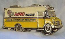Vintage 1992 Mens Mac Tools Hand Picked By Pros Truck Van Collector Belt Buckle