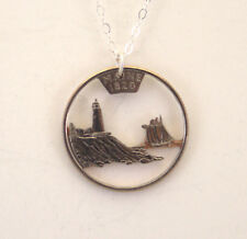 Maine - Cut-Out Coin Jewelry, Necklace