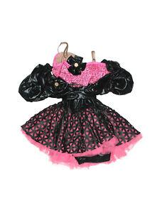 Girl Weissman Swag It Out 7643 Pink Black Biketart Chain Dance Costume Size LC