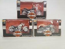 Lot of 3 Maisto 1:18 Scale Harley Davidson MotorcyclesSeries 10 11 & 12