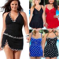 Size 14 Women One Piece Bikini Swimwear Swimsuit Beach Tankini Strappy Swimdress