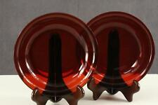 """Vintage Kitchen Glass Anchor Hocking Royal Red Ruby 7.5"""" Pasta Soup Bowls"""