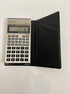 Vintage Sharp Scientific Calculator EL-506A With Case Works Retro Cool