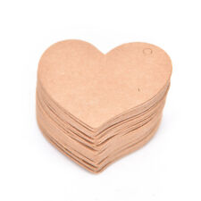 100x  heart-shaped Paper Tags for Diy Gifts Crafts Price Luggage Name Tags HotME