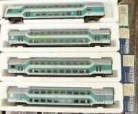 Tillig 73790 - 2 x,73791,Sachsenmodelle 14460 4xDoppelstockwagen DB AG Epoche 5