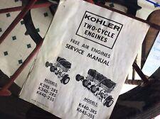 Vintage snowmobile Kohler 295-645cc engine manual
