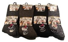 6 Pairs Of Mens Non Elastic Wool Socks, Thick Chunky Work Boot Socks, 6-11