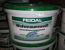 5 Liter FEIDAL Wohnraumweiß Innendispersionsfarbe, hochdeckend, weiß, matt