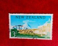 NEW ZEALAND POSTAGE STAMP 3/- used tongariro national park chateau
