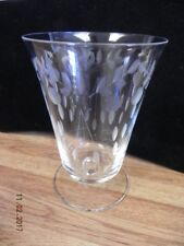 VINTAGE ETCHED GLASS WINE WATER GLASS.. BEAUTIFUL FLUTED WINE WATER GLASS
