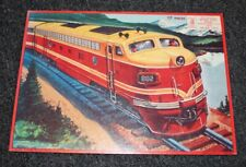 1958 Milton Bradley APTITUDE TESTED PUZZLE Train 17 PIECES