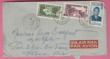 Sur Env. Par Avion - CAD SAIGON R.P Viet Nam du 4-4-1952 sur 3 timbres
