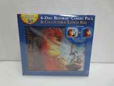 The Lion King 3D 4-Disc Blu-ray Combo Pack & Collectible Tin Lunch Box Sealed