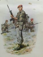 11X15 ORIGINAL POSTER ARMY AIRBORN SAS SOLDIER BY CHAS C STADDEN