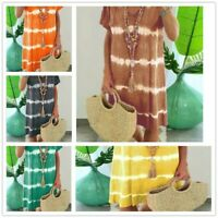 Summer Dresses Loose for Women Casual Beach Ladies Plus Size Midi V-neck Soho