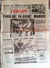 L'Equipe Journal 30/09/1986; XI Mondial/ PSG-Vitkovice/ Kelly/ Peponnet-Pillot