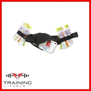 Spibelt with 6 Energy Gel Loops Running Marathon Belt Non Bounce Pocket