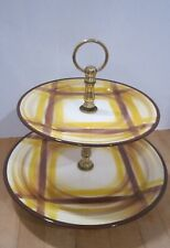 Vernonware U.S.A. Organdie Two Tier Server - pastries, rolls & other - Ec