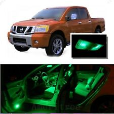 For Nissan Titan 2004-2014 Green LED Interior Kit + Green License Light LED