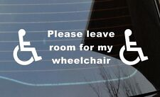 Wheelchair vinyl sticker car minibus taxi Disabled Disability Mobility decal