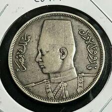 1937 EGYPT SILVER 10 PIASTRES NICE COIN