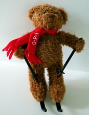 O.P.I  OPI Plush Teddy Bear Skiing with Ski Poles Plush Stuffed Animal Toy Nails
