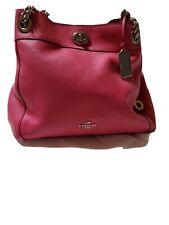 Product 1 : Coach 36855 Turnlock Edie Pebble Leather Shoulder Bag Beachwood - b…