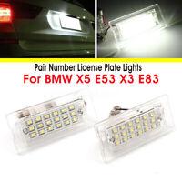 2x LED Eclairage Plaque d'immatriculation pour BMW E53 1999-2006 E83
