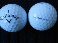 """40 CALLAWAY """" TOUR iX """" - (BLACK TICK)  - Golf Balls -  """"PEARL/A"""" Grades."""