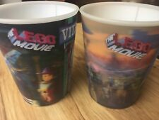 Lego movie 3-D cups set of 2