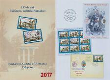 Rumänien 2017 NEU Bukarest,Hauptstadt,Fürst Cuza,Wappen Marke,Zf,KB,Block
