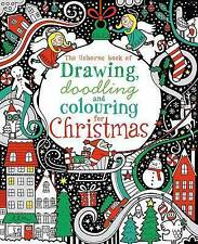 Drawing, Doodling & Colouring: Christmas (Usborne Art Ideas),New Condition