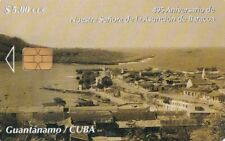 CUBA CHIP PHONECARD ,GUANTANAMO BAYHARBOUR,,, USED,
