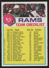 1973 TOPPS TEAM CHECKLISTS #13 LOS ANGELES RAMS — EX (5)