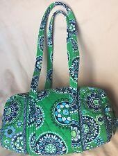 Vera Bradley Green Cupcakes Handbag Small Duffel Purse Shoulder Bag Quilted EUC