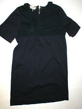 New Womens 10 NWT Dress 46 Designer Marni Italy Dark Blue Navy Cotton Viscose SS