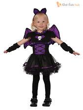 Bristol Novelty CC067 Bat Princess Toddler Dress Purple X-small