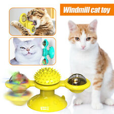 New listing Cat Turning Windmill Turntable Tickle Cat Toy Scratch Hair Brush Pet Accessories