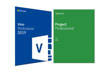 Microsoft Project 2019 and Microsoft Visio 2019 Professional FOR 1 PC GENUINE