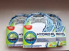 12  Wilkinson Sword Hydro 5 Sensitive Rasierklingen Neu / OVP