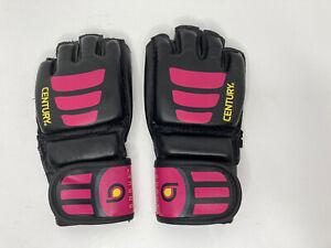 Century Women's Brave Open Palm MMA Training Gloves - BK PK - S/M - New w/o pkg