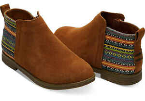 Toms 10010723 Deia Cinnamon Suede Tribal Kid's Girls Shoes