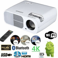 WiFi Smart 4K Bluetooth Android Projector Home Cinema Game Office Multimedia CE