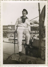 PHOTO ANCIENNE - VINTAGE SNAPSHOT - MILITAIRE MARIN BREST - MILITARY SAILOR