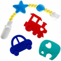 Teething Toys PLUS Pacifier Clip BPA-Free & FDA Approved Soothing Pain Relief