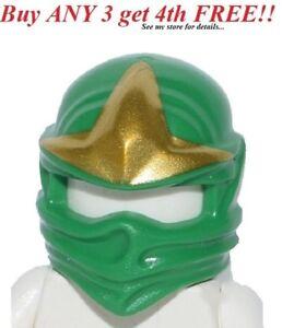 ☀️NEW Lego Ninjago Ninja RARE GREEN HEAD WRAP ZX Lloyd Minifig Headwrap Hood Hat