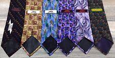 Jerry Garcia Men's Silk Tie Lot - Six Gorgeous Ties (A17)