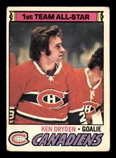 1977-78 O-Pee-Chee #100 Ken Dryden Canadiens VG (ref 20166)