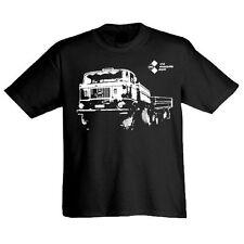 Unifarbene Herren-T-Shirts aus Baumwolle mit Motorrad