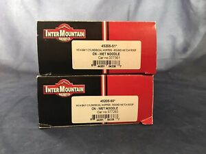 Intermountain CN Covered Hoppers (2) Red Wet Noodle 55' Round Hatch 4 Bay